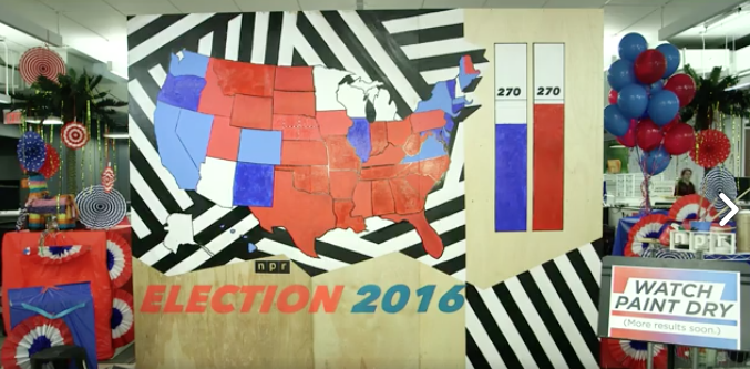 NPR Live 2016 Election Coverage: Watch Paint Dry