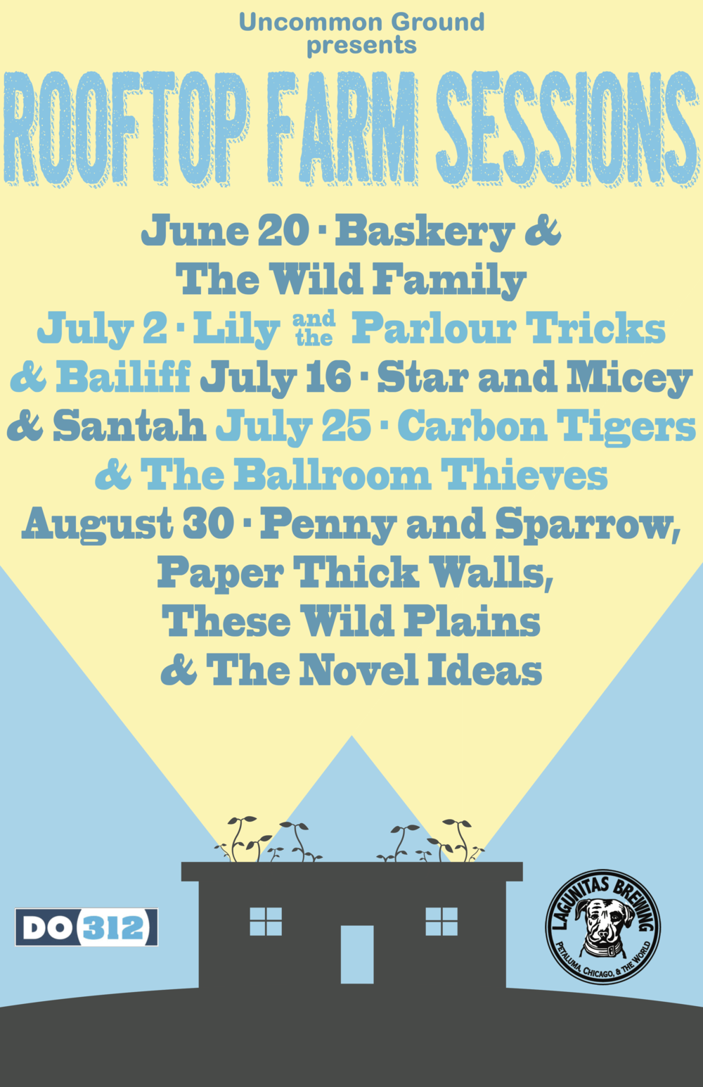 Rooftop Farm Sessions Poster for Uncommon Ground  | Laser Jet Print & Web Use