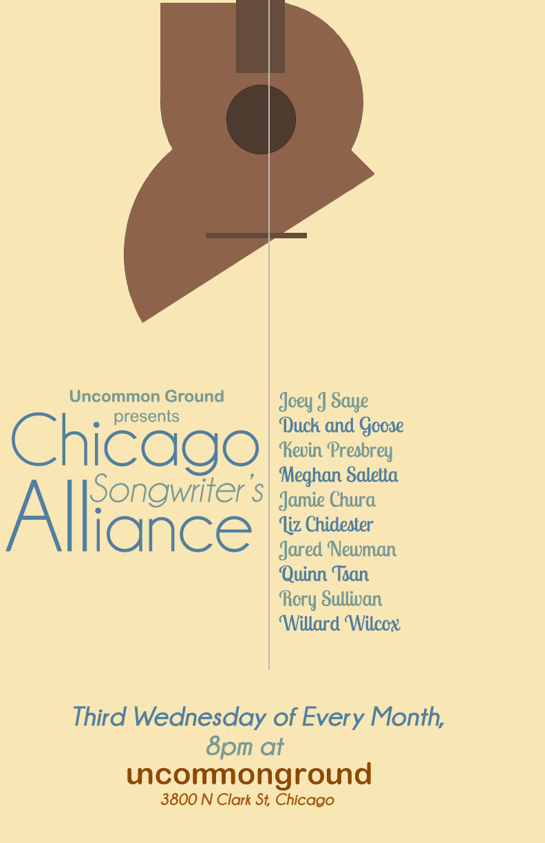 Chicago Songwriter's Alliance Poster (Updated Monthly)   | Laser Jet Print & Web Use