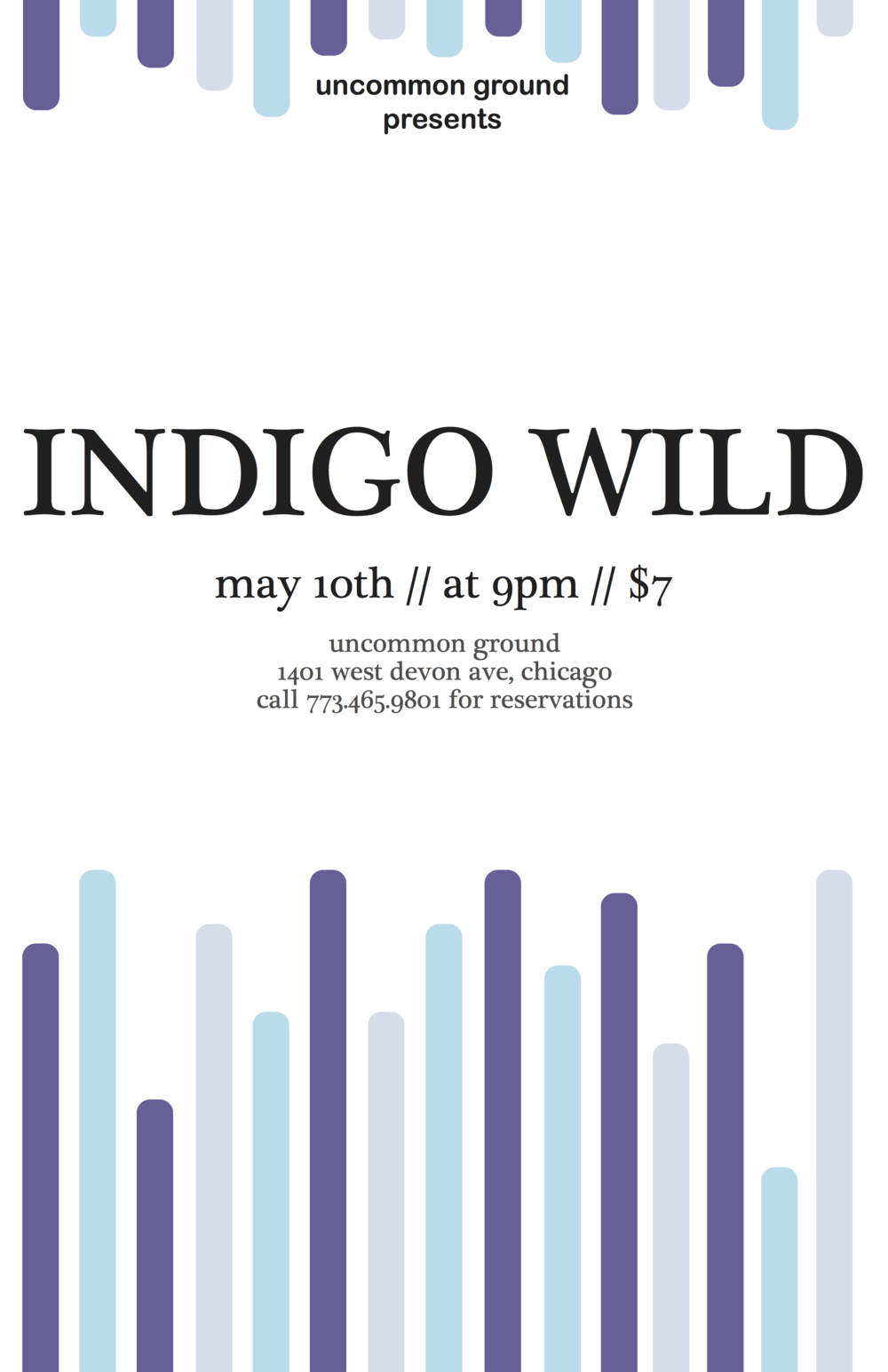 Indigo Wild at Uncommon Ground Commissioned by Uncommon Ground| Laser Jet Print & Web Use
