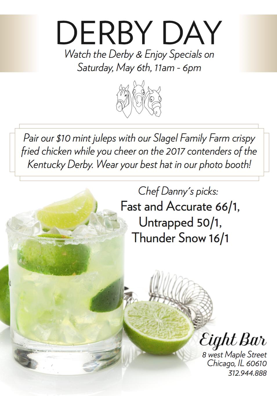 Derby Day Card for Eight Bar Restaurant