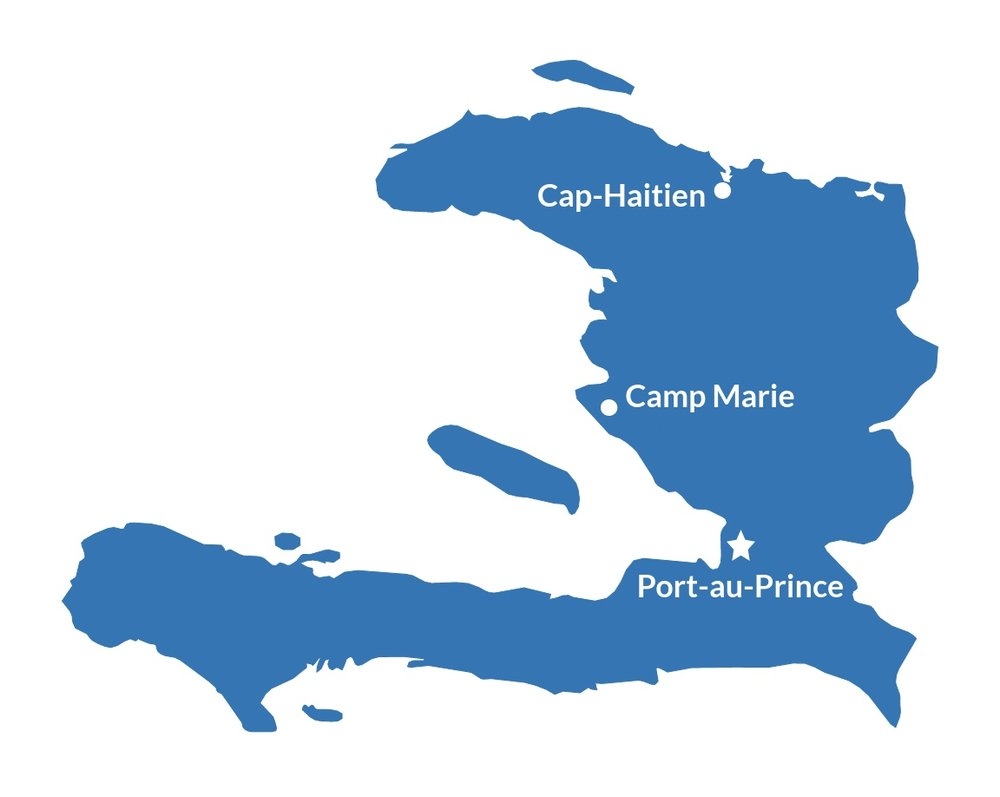Haiti Map, Mission, Ministry, Disaster Preparedness, Relief, Community.
