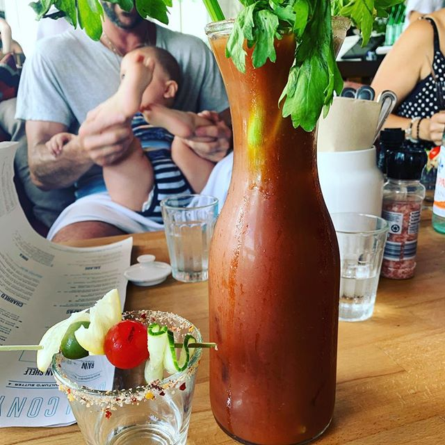 Bloody Mary for one? @balconybyronbay @juliacisabella @moanapie #holidays #byron #summer #bloodymary #cocktails