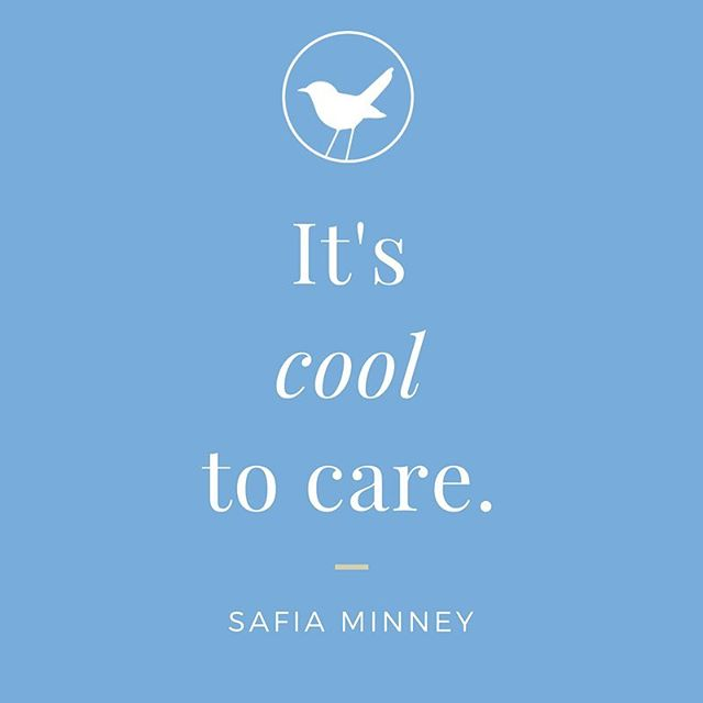 We think it's cool to care too 💙🌍 @safia_minney is the inspiring Founder of @peopletreeuk - a great campaigner for creating a better trading system that delivers human rights and environmental innovation in fashion production. In other words, she's one super cool woman! ✌️ . . . . #socialchange #slowfashion #fashionrevolution #socialenterprise #safiaminney #truecost #fairtrade #sustainability #amazingwomen #instaquote #quoteoftheday #ethicalfashion