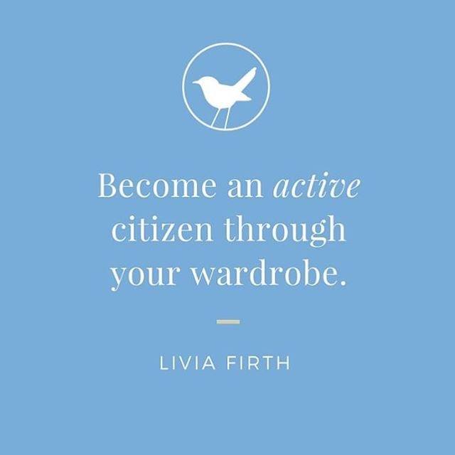 Words to remember from @livia_firth - every time you spend money, you are casting a vote for the kind of world you want 💙🌏✌️ #ethicallymade #howitsmadematters #fairtrade #ecoage #ethicalfashion #slowfashion #quotestoliveby #fashionrevolution #sustainablefashion #whomademyclothes #socialenterprise #liviafirth