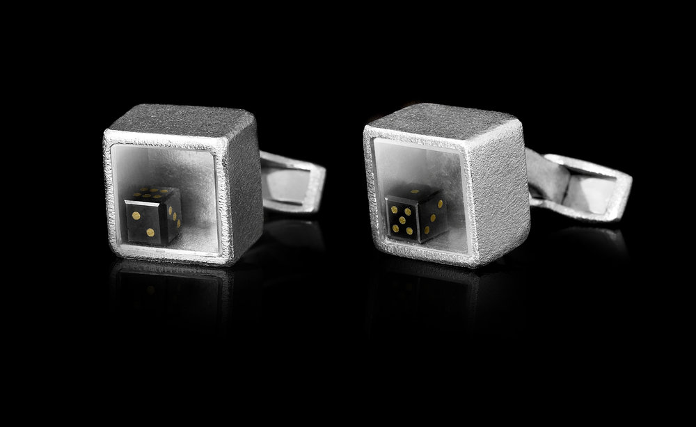 2.89 ct. black diamond dice in white gold cufflinks.jpg