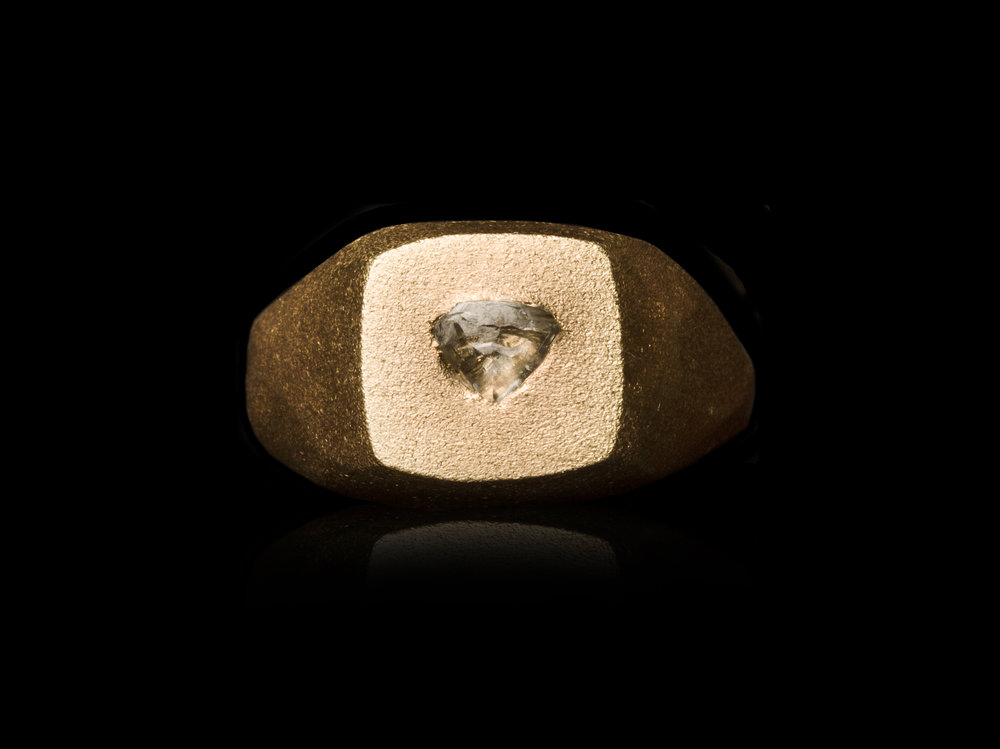 0.39 carat natural triangle rough diamond signet ring .jpg