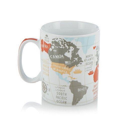 World map bedding lizzie lees world map mug designed by lizzie lees for the ben de lisi debenhams range gumiabroncs Choice Image
