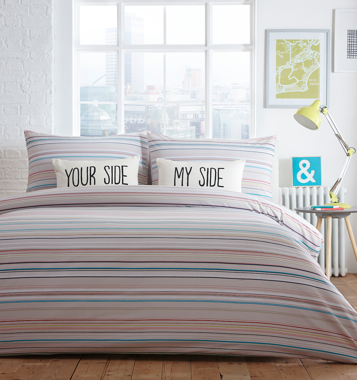 Homeware lizzie lees boston stripe bedding gumiabroncs Image collections