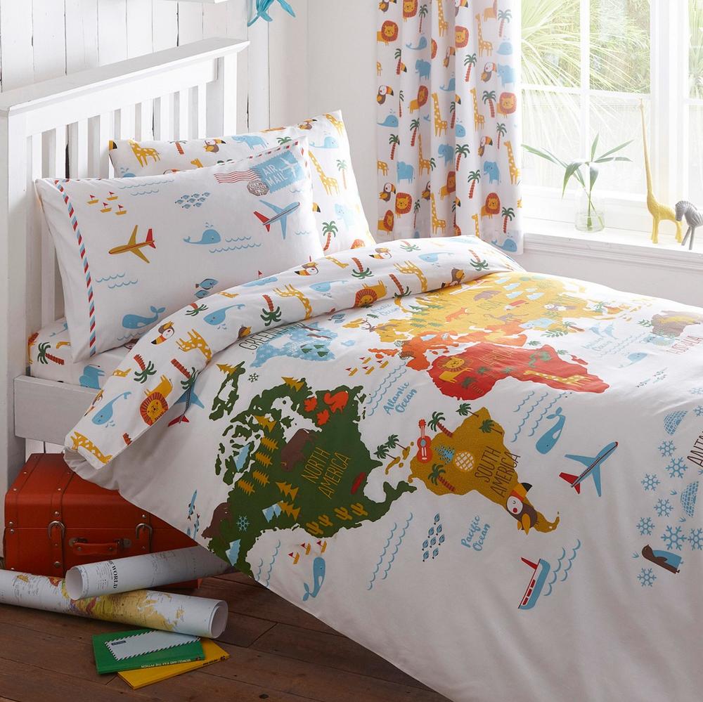 Kids Map Bedding — Lizzie Lees