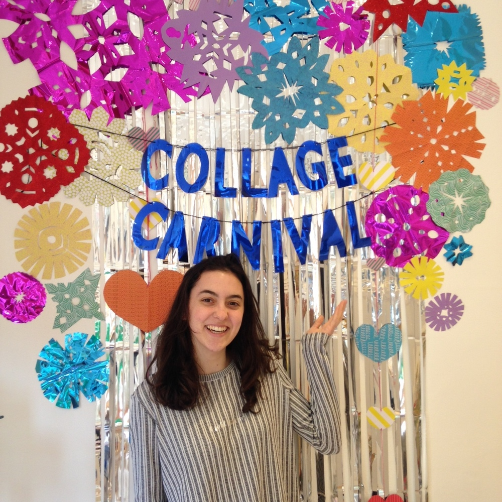 Collage Carnival photo wall in store at Pavilion Books - Covent Garden. Pop in store to take your selfie! :)