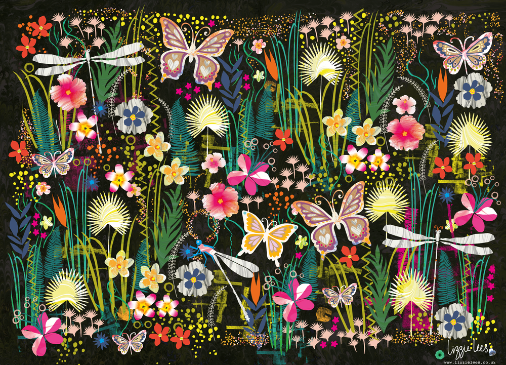 Lizzie Lees - Midnight Tropical Garden