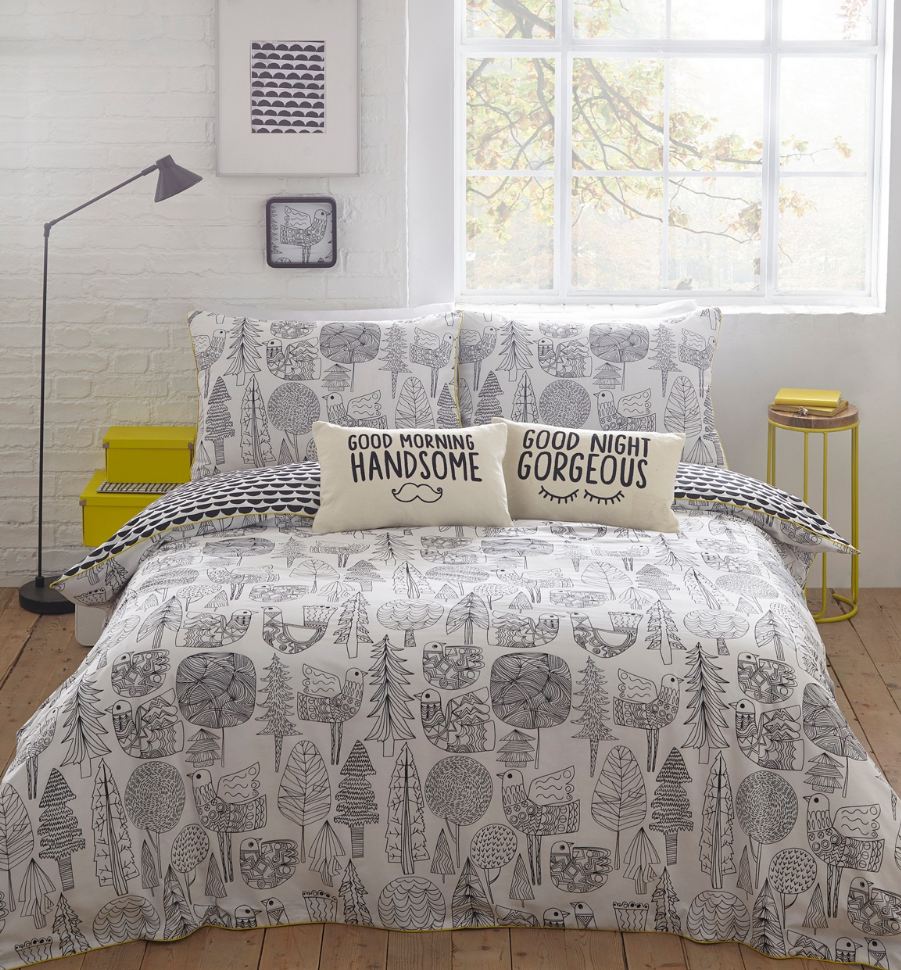 Homeware lizzie lees scandi birds bedding gumiabroncs Image collections