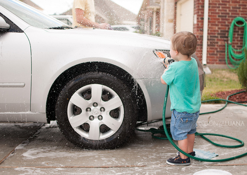 Car wash with the kids | Donya Luana | Houston Family Activities