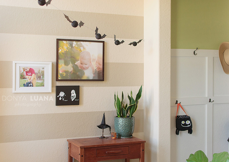 Decorating with past Halloween photos & Three Easy Tips to take those photos.