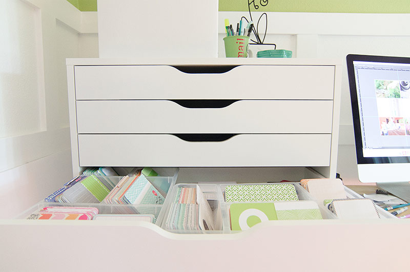 Project Life storage idea: Alex drawer units with Antonius baskets from Ikea