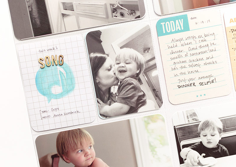 Project Life Idea: Include a 'Song of the Week' card