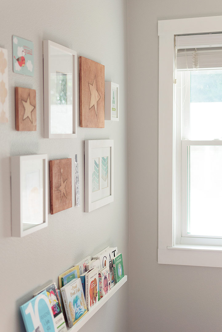 How to put together a gallery wall using an imaginary grid