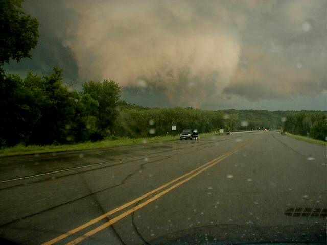 Following the tornado through the Minnesota River valley.