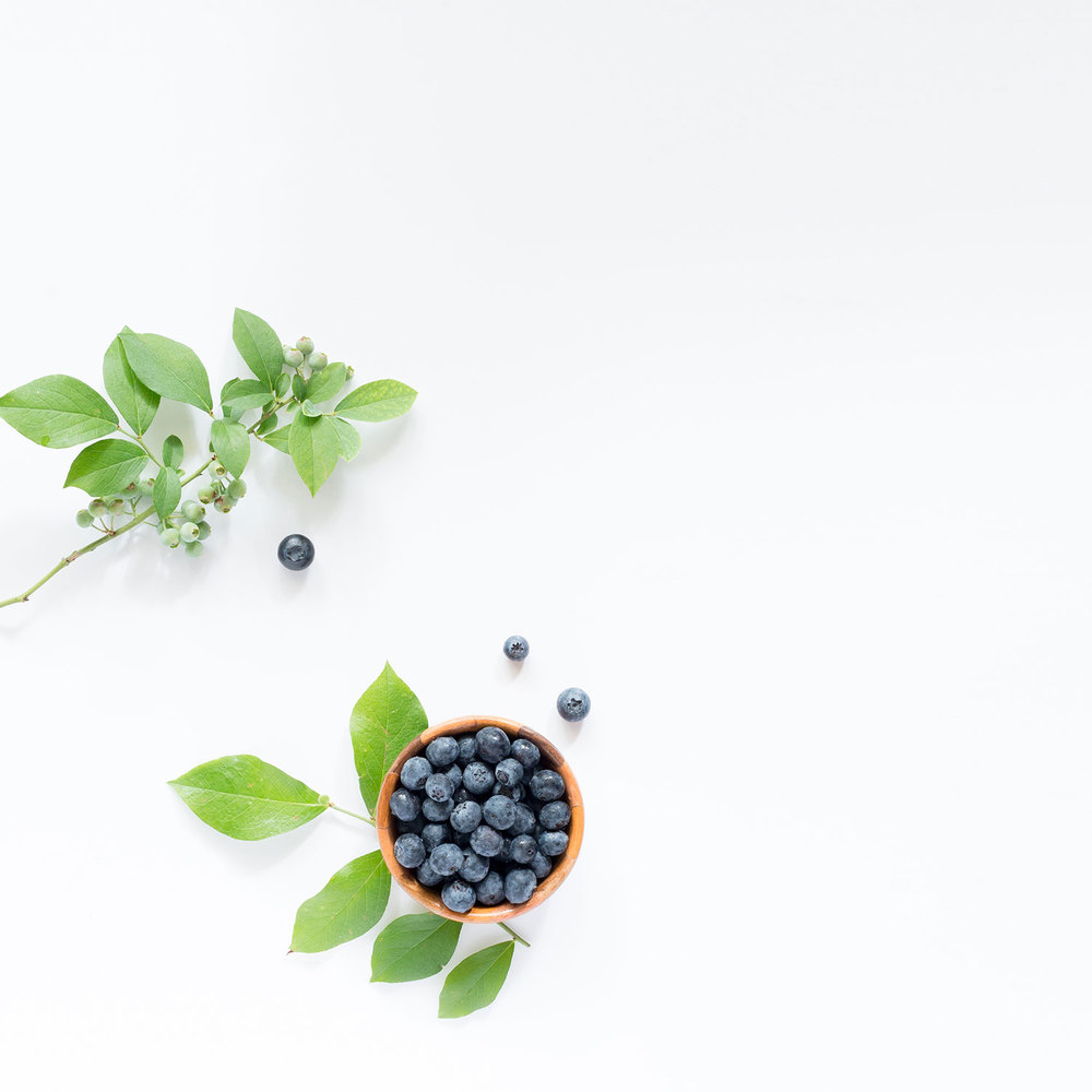 DL Styled Stock Imagery | Blueberries on White Countertop