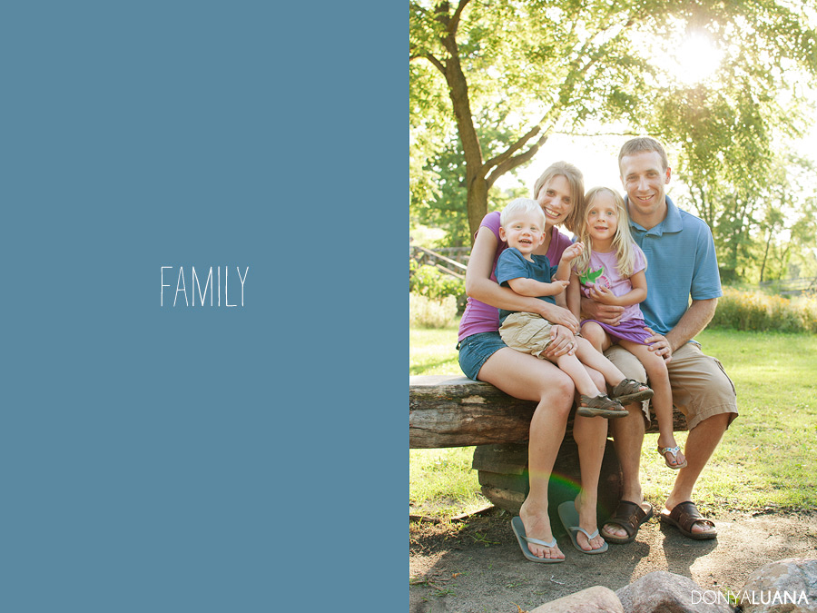 Backlit family portrait in the Woodlands Texas