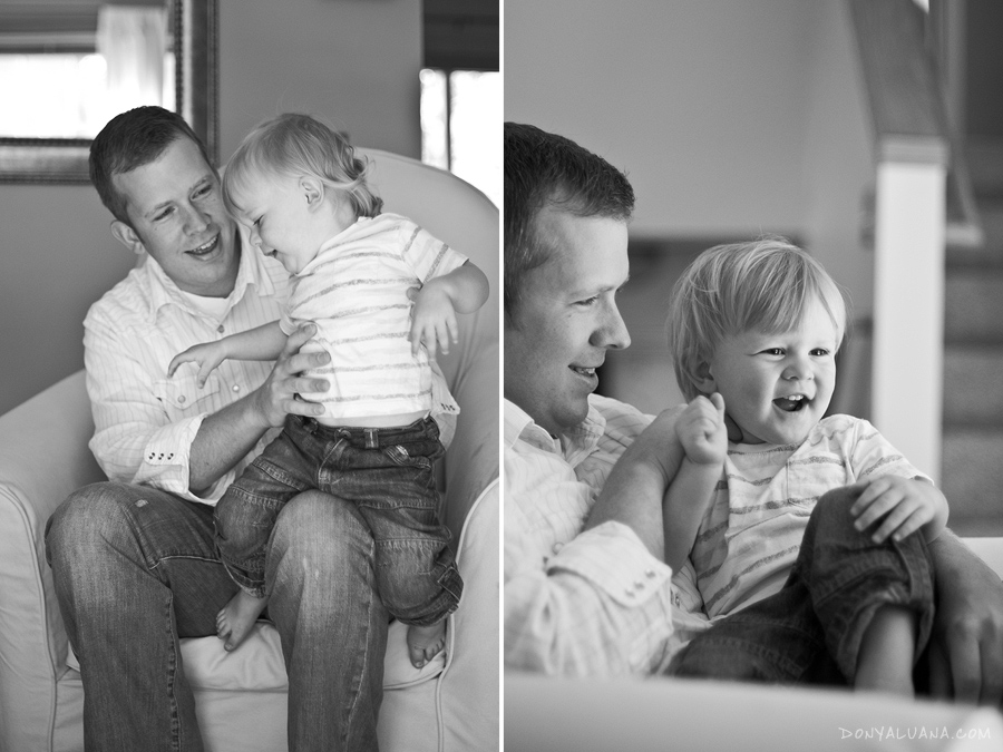 Happy, fun photos of father and son at sugar land texas home