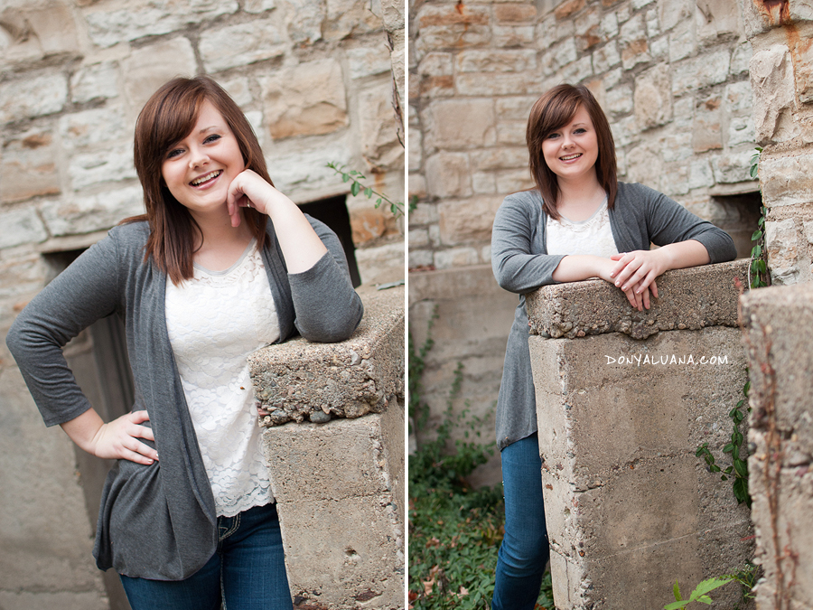 Northfield senior hangs out near st. olaf building for senior portraits