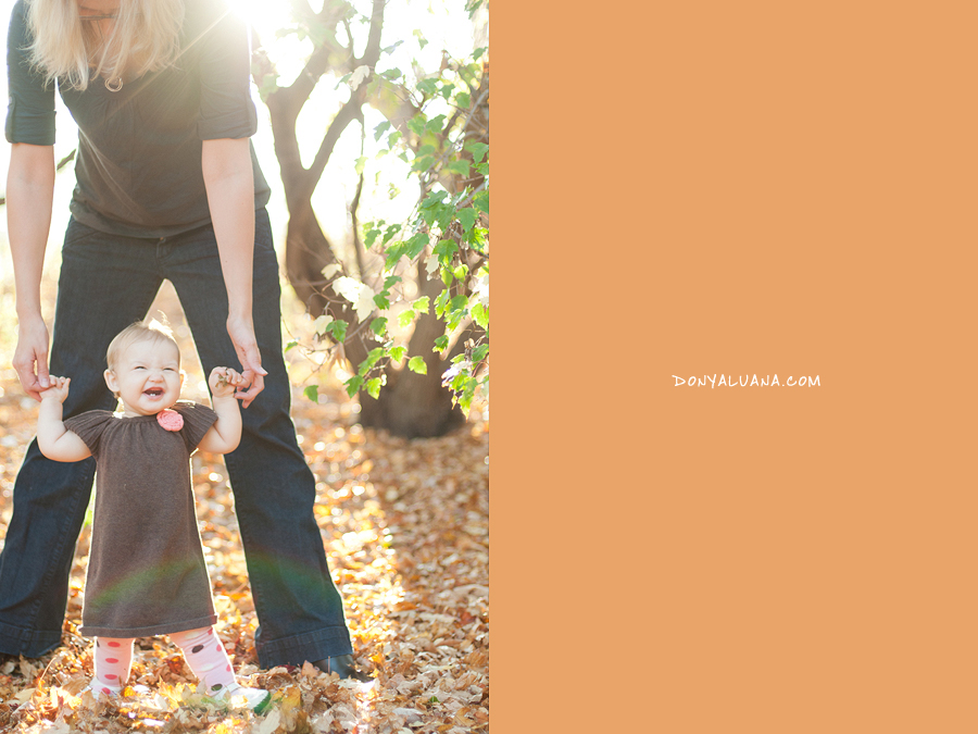 Outstanding, gorgeous Tomball sunlight coming through backyard trees for family portraits