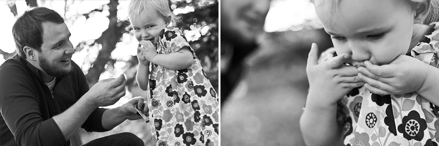 Tomball father and daughter play in backyard for pictures