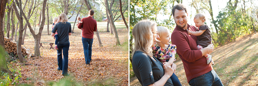 Tomball Family portraits taken in backyard woods