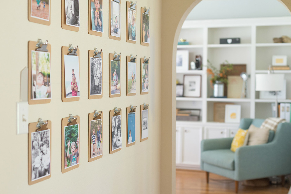 Easiest Wall Gallery Using Clipboards | Donya Luana At Home