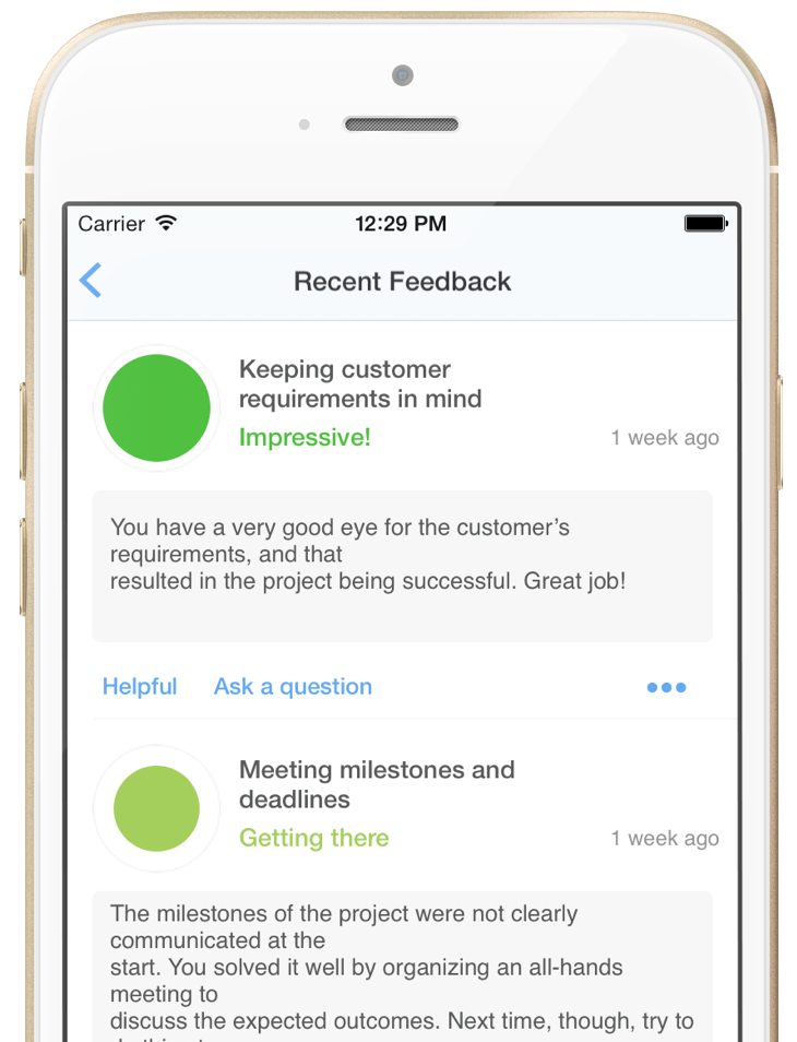 real time employee feedback iphone impraise