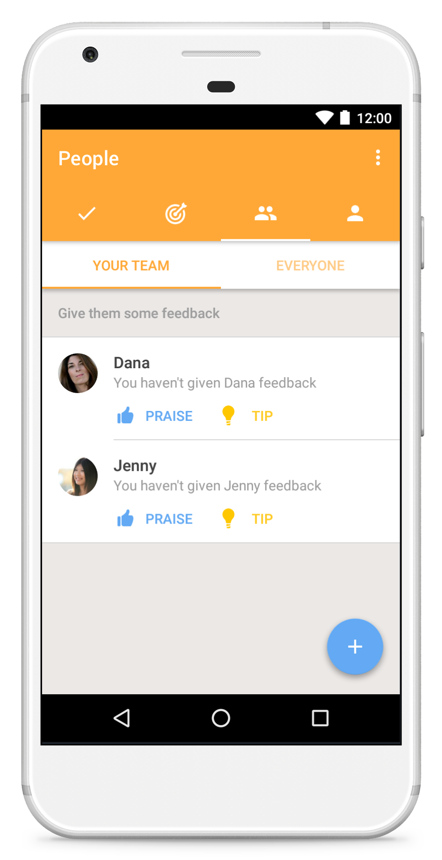 manager feedback dashboard