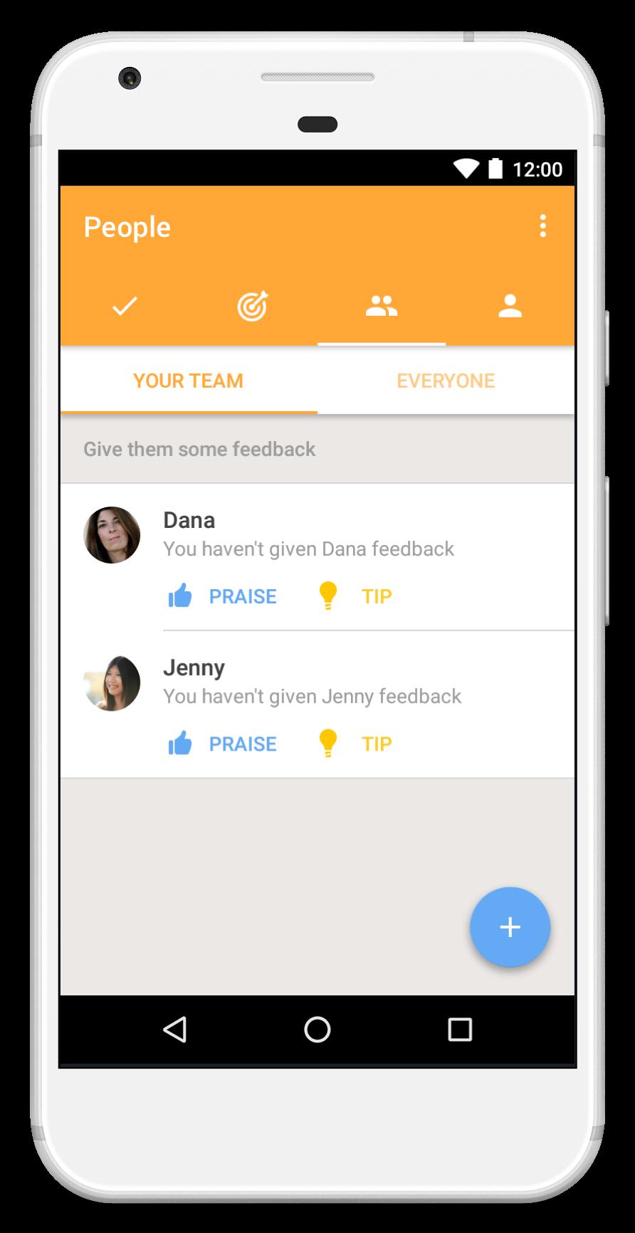 manager feedback dashboard
