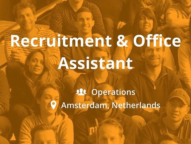 Join our #recruitment and #operations team @ impraise in Amsterdam! Apply directly via jobs.impraise.com #jobs #jobsinamsterdam #recruitmentassistant #officeassistant