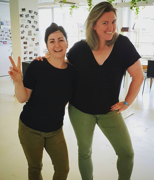 Our Office Manager and People Ops Manager are twins of the day! 😎 #impraise #startuplife #happyteam #officefriday #startups #hrtech #techstartup