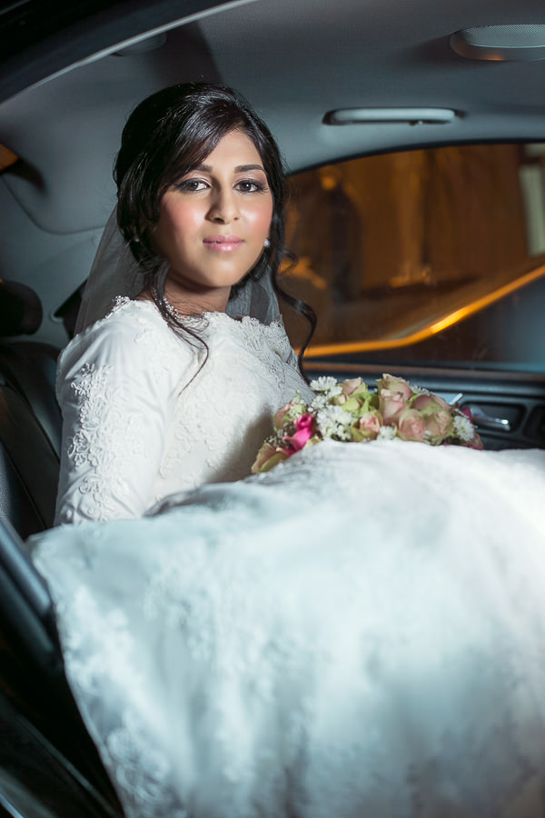 Reservoir hills islamic centre muslim bride sitting in car