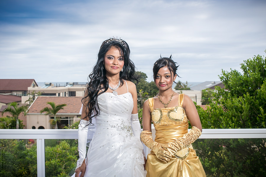 La Lucia Durban Wedding Rbadal Photography bride and sister
