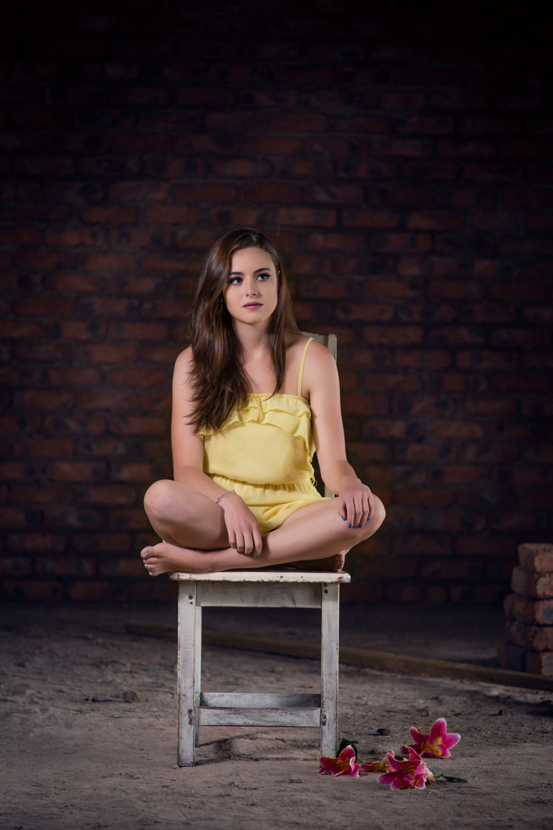 girl model on chair in abandoned house umhlanga durban rbadal photography