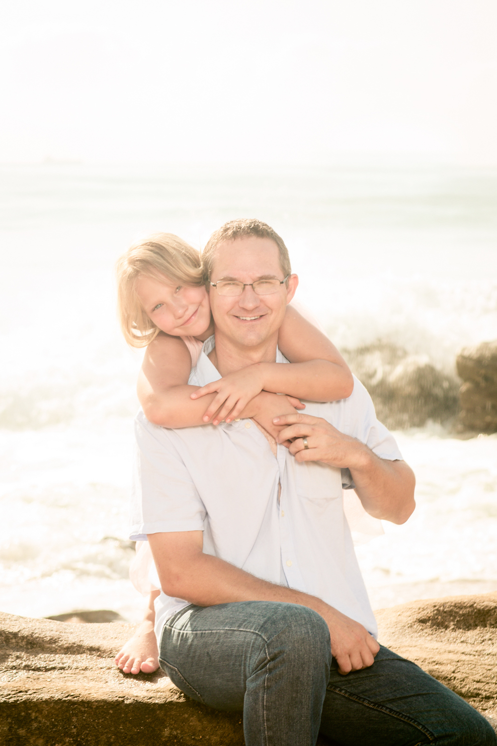 Family photography dad and daughter umhlanga beach rbadal photography