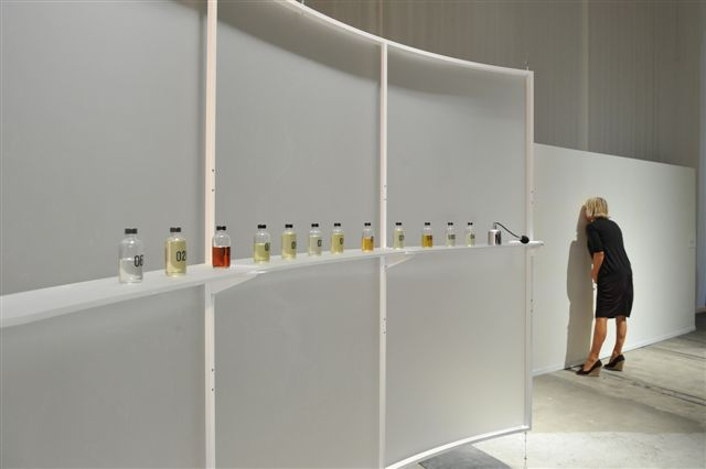 Tolaas captured the scent of nine men prone to panic attacks for her exhibition FEAR at MIT's List Visual Arts Center in New York.