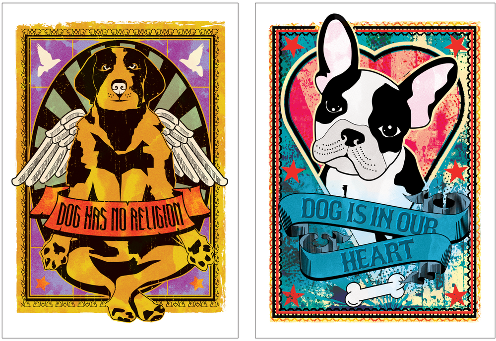 A series of prints created to raise money for the Riverside Animal Centre where i volunteer and to sell in local shops