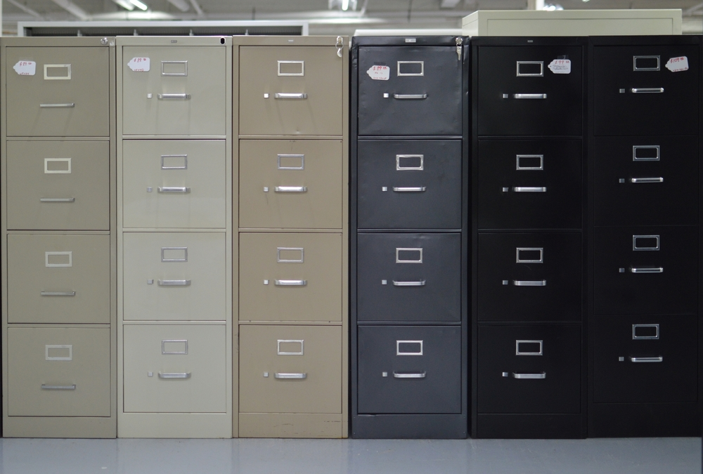 4 Drawer File cabinets are marked $69 -$119