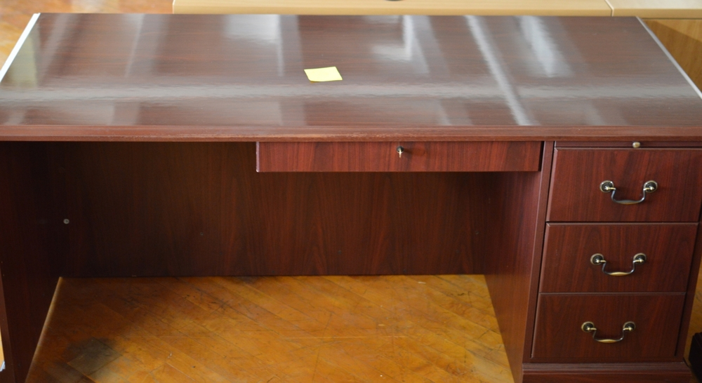 Desk marked at $
