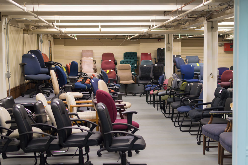 Our used chair room has over 150 chairs to chose from!