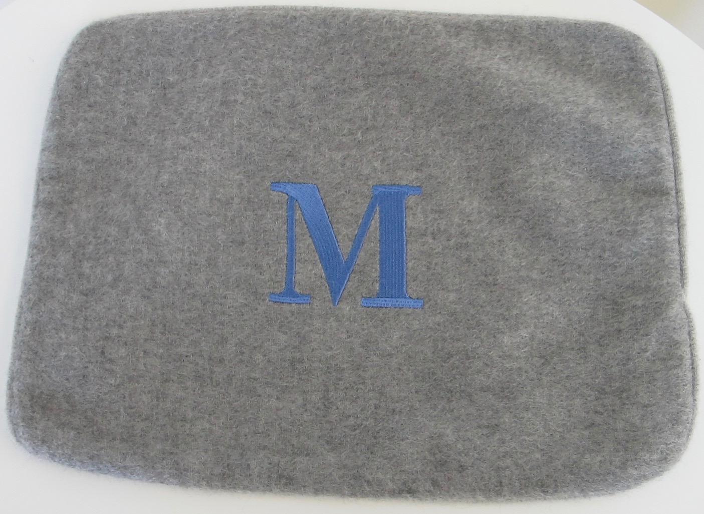 Masserano Cashmere 16 X 20 Pillow Cover M Monogram Dolce De Mare