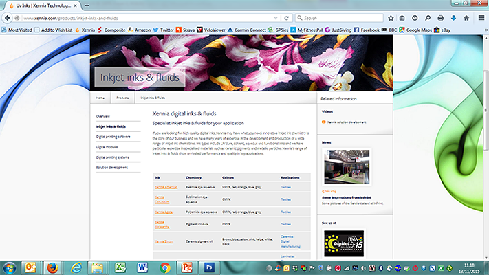 Xennia 2013-2015 Website Product Page