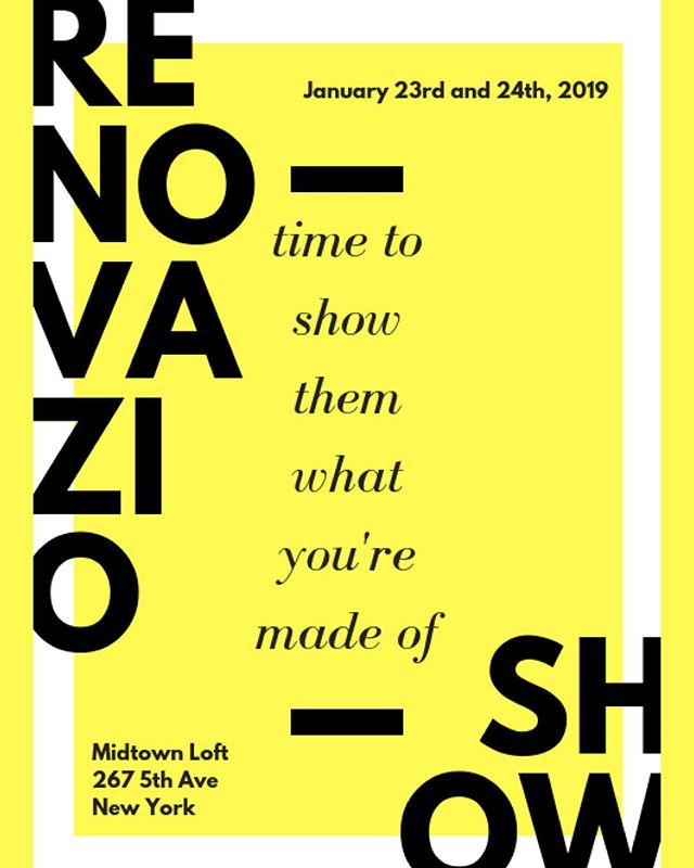 Renovazio Show January 23rd and 24th, 2019 @midtownloft