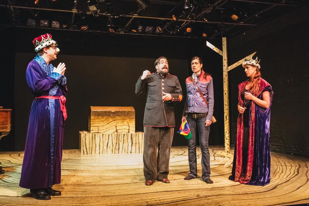 The Skylight Ring - Skylight Music Theatre, 2015 Pictured: Tim Rebers (Gunther), Robert Frankenberry (Hagen), Colleen Brooks (Siegfried), Erin Sura (Gutrune) Photo: Sara Bill