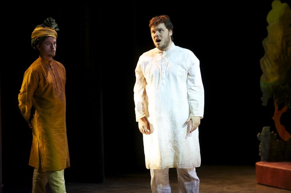 Fidelio (First Prisoner) -Skylight Music Theatre, 2013 Also pictured: Eamon Pereyra (Jaquino) Photo: Mark Frohna